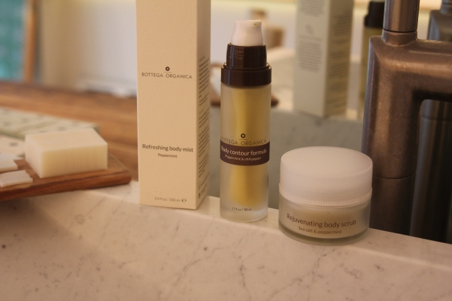 Bottega Organica's body care offerings.